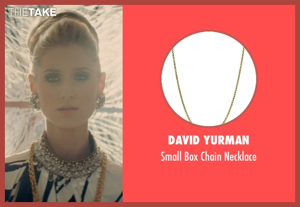 David Yurman gold necklace from The Man from U.N.C.L.E. seen with Elizabeth Debicki (Victoria Vinciguerra)