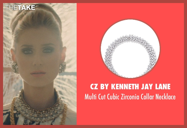 CZ by Kenneth Jay Lane necklace from The Man from U.N.C.L.E. seen with Elizabeth Debicki (Victoria Vinciguerra)