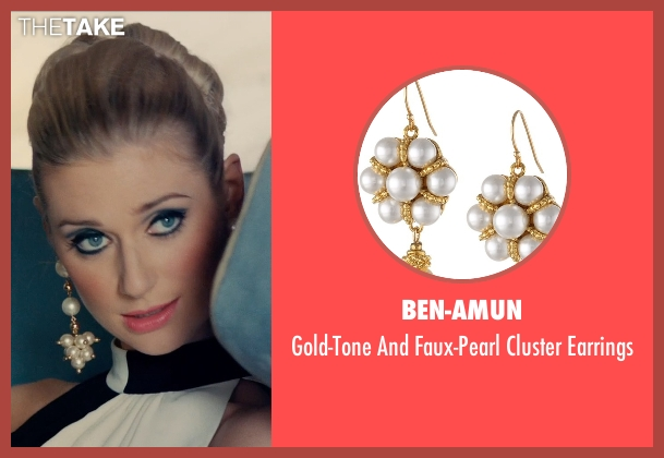 Ben-Amun white earrings from The Man from U.N.C.L.E. seen with Elizabeth Debicki (Victoria Vinciguerra)