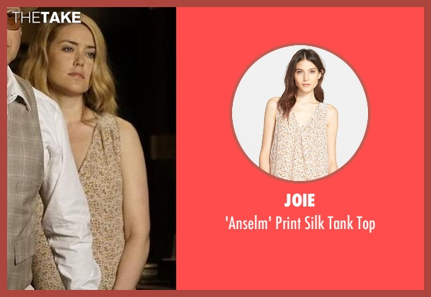 Joie beige top from The Blacklist seen with Elizabeth Keen (Megan Boone)
