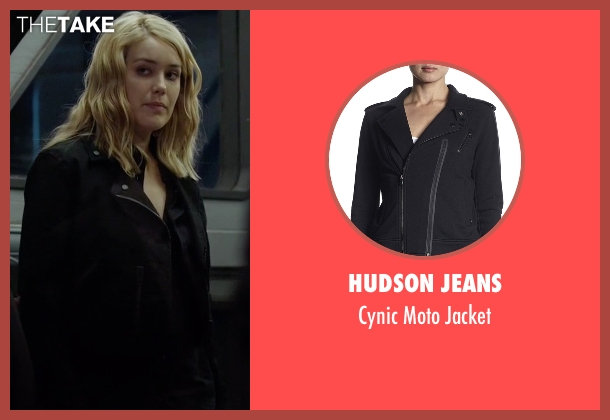 Hudson Jeans black jacket from The Blacklist seen with Elizabeth Keen (Megan Boone)