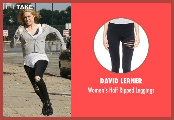 David Lerner black leggings from The Blacklist seen with Elizabeth Keen (Megan Boone)
