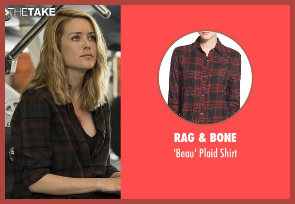 Rag & Bone black plaid shirt from The Blacklist seen with Elizabeth Keen (Megan Boone)