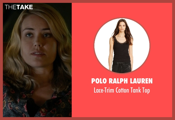 Polo Ralph Lauren black top from The Blacklist seen with Elizabeth Keen (Megan Boone)