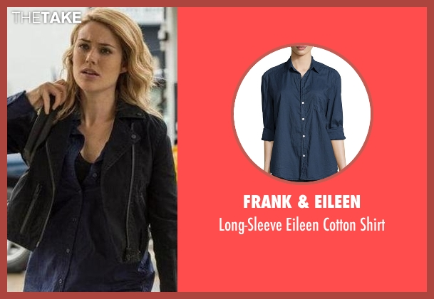 Frank & Eileen blue shirt from The Blacklist seen with Elizabeth Keen (Megan Boone)