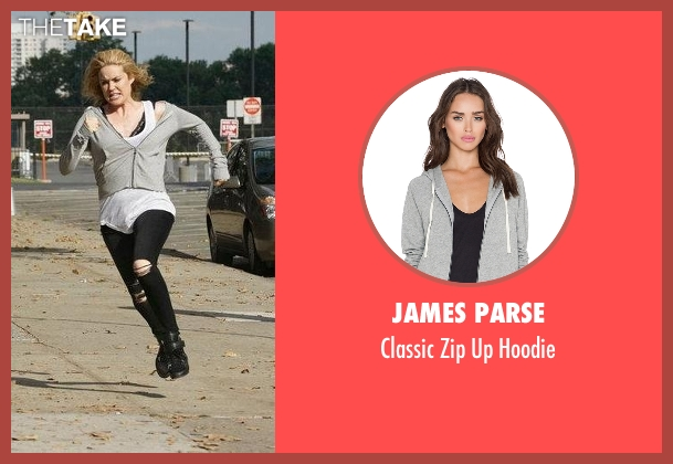 James Parse gray hoodie from The Blacklist seen with Elizabeth Keen (Megan Boone)