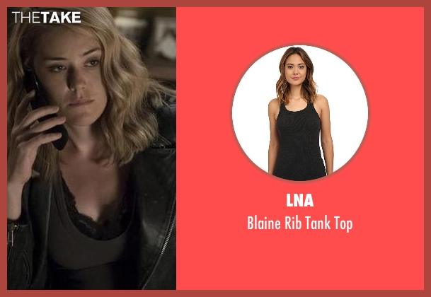 LNA gray top from The Blacklist seen with Elizabeth Keen (Megan Boone)