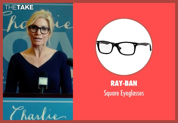 Ray-Ban black eyeglasses from The Purge: Election Year seen with Elizabeth Mitchell (Charlene 'Charlie' Roan)