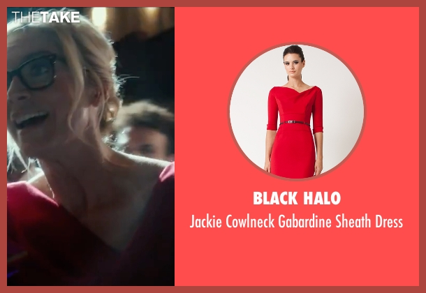 Black Halo red dress from The Purge: Election Year seen with Elizabeth Mitchell (Charlene 'Charlie' Roan)