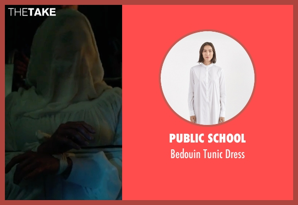 Public School white dress from The Purge: Election Year seen with Elizabeth Mitchell (Charlene 'Charlie' Roan)