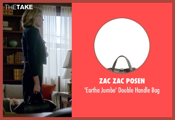 Zac Zac Posen black bag from Scandal seen with Elizabeth North (Portia de Rossi)