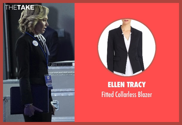 Ellen Tracy black blazer from Scandal seen with Elizabeth North (Portia de Rossi)