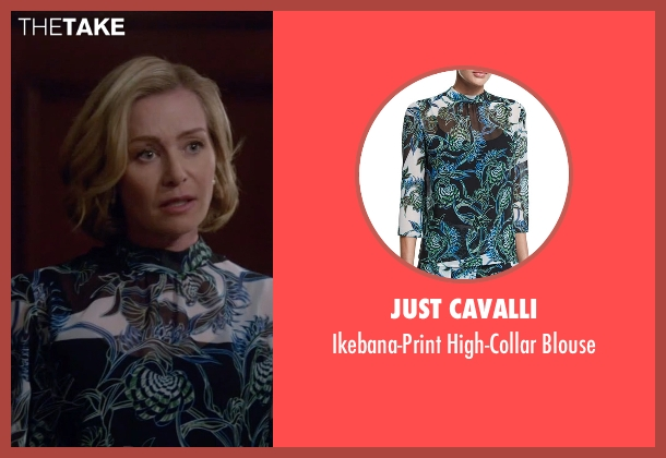 Just Cavalli black blouse from Scandal seen with Elizabeth North (Portia de Rossi)