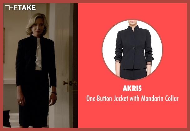 Akris black collar from Scandal seen with Elizabeth North (Portia de Rossi)