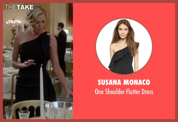 Susana Monaco black dress from Scandal seen with Elizabeth North (Portia de Rossi)