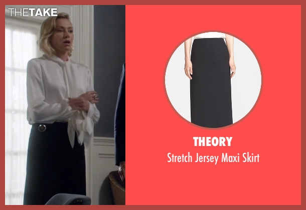 Theory black skirt from Scandal seen with Elizabeth North (Portia de Rossi)