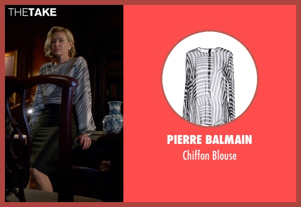 Pierre Balmain blouse from Scandal seen with Elizabeth North (Portia de Rossi)