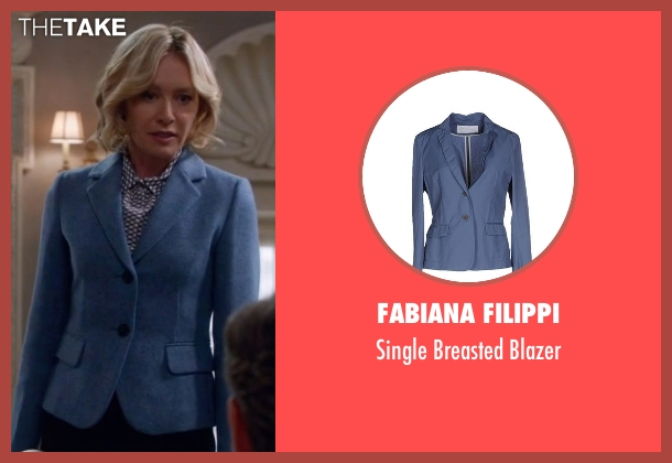 Fabiana Filippi blue blazer from Scandal seen with Elizabeth North (Portia de Rossi)