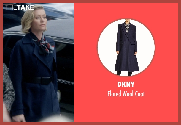 DKNY blue coat from Scandal seen with Elizabeth North (Portia de Rossi)