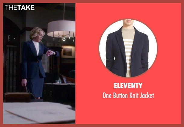 Eleventy  blue jacket from Scandal seen with Elizabeth North (Portia de Rossi)