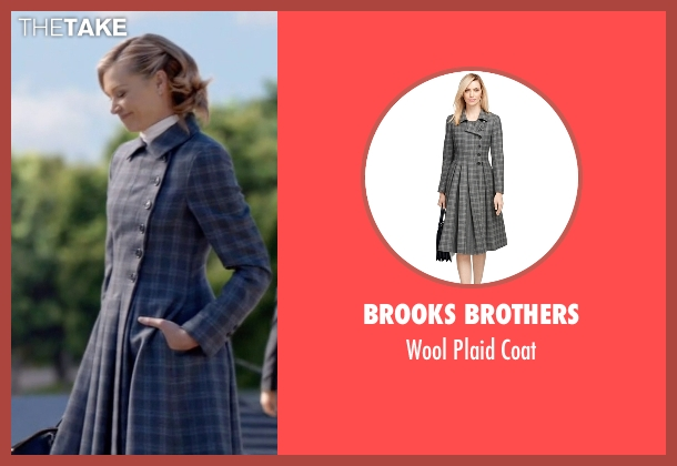 Brooks Brothers gray coat from Scandal seen with Elizabeth North (Portia de Rossi)