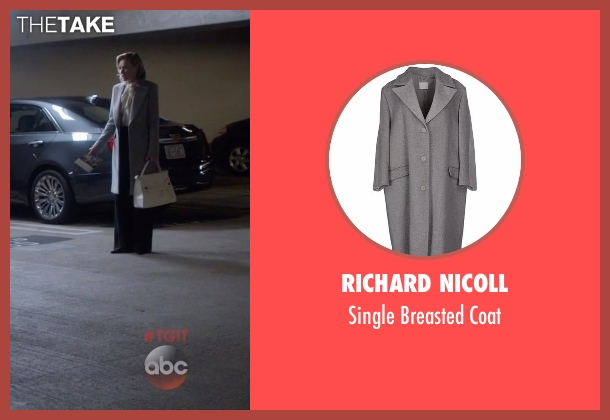 Richard Nicoll gray coat from Scandal seen with Elizabeth North (Portia de Rossi)