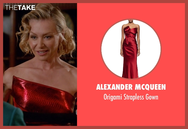 Alexander McQueen red gown from Scandal seen with Elizabeth North (Portia de Rossi)