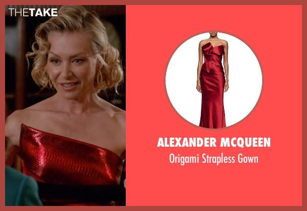 Alexander McQueen red gown from Scandal seen with Elizabeth North (Portia de Rossi)