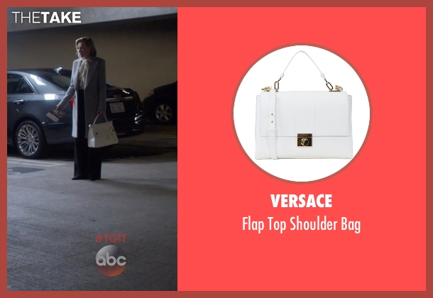 Versace white bag from Scandal seen with Elizabeth North (Portia de Rossi)