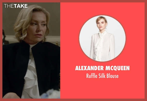 Alexander Mcqueen white blouse from Scandal seen with Elizabeth North (Portia de Rossi)