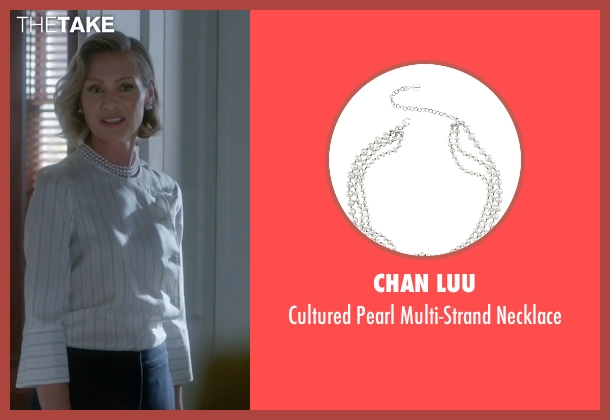 Chan Luu white necklace from Scandal seen with Elizabeth North (Portia de Rossi)