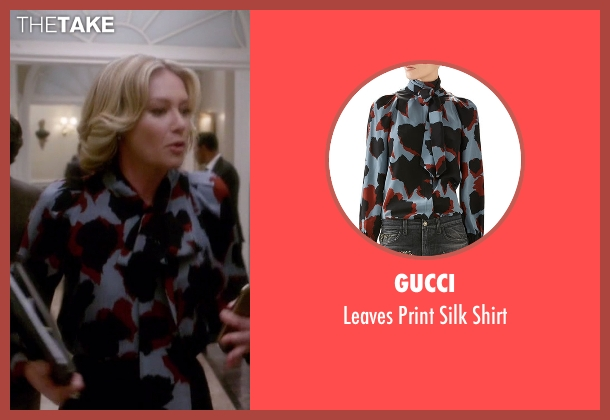 Gucci white shirt from Scandal seen with Elizabeth North (Portia de Rossi)