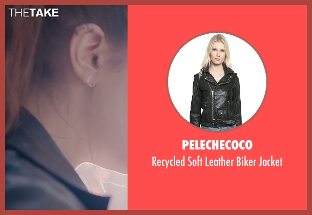Pelechecoco black jacket from Avengers: Age of Ultron seen with Elizabeth Olsen (Wanda Maximoff / Scarlet Witch)