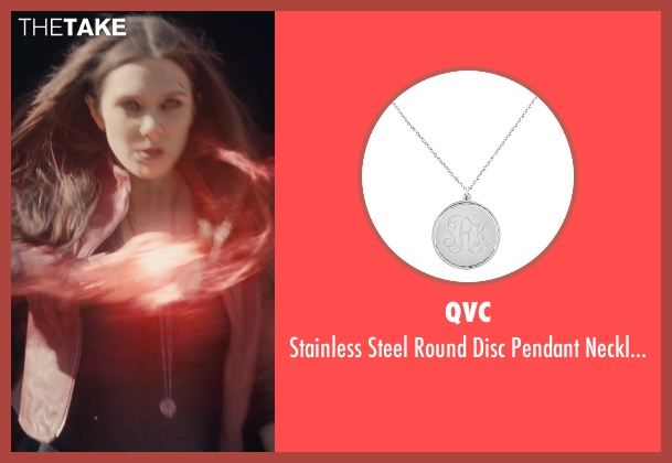 QVC silver necklace from Avengers: Age of Ultron seen with Elizabeth Olsen (Wanda Maximoff / Scarlet Witch)