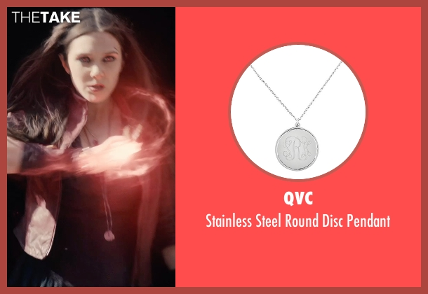QVC silver pendant from Avengers: Age of Ultron seen with Elizabeth Olsen (Wanda Maximoff / Scarlet Witch)