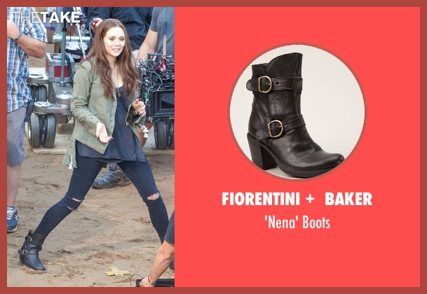 Fiorentini +  Baker black boots from Captain America: Civil War seen with Elizabeth Olsen (Wanda Maximoff / Scarlet Witch)