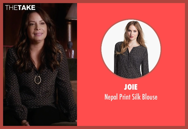 Joie  black blouse from Pretty Little Liars seen with Ella Montgomery (Holly Marie Combs)