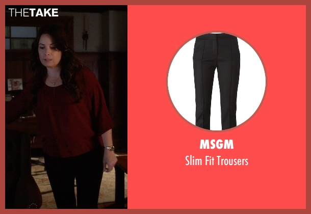 Msgm black trousers from Pretty Little Liars seen with Ella Montgomery (Holly Marie Combs)