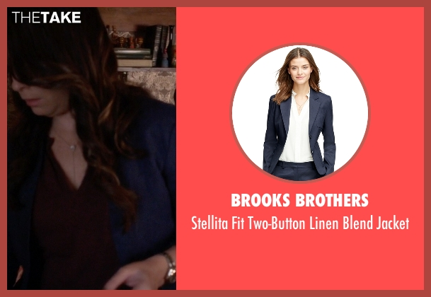 Brooks Brothers blue jacket from Pretty Little Liars seen with Ella Montgomery (Holly Marie Combs)