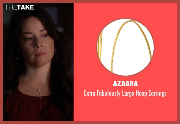 Azaara gold earrings from Pretty Little Liars seen with Ella Montgomery (Holly Marie Combs)