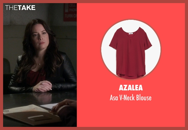 Azalea red blouse from Pretty Little Liars seen with Ella Montgomery (Holly Marie Combs)