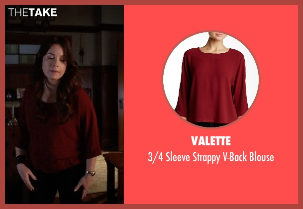 Valette red blouse from Pretty Little Liars seen with Ella Montgomery (Holly Marie Combs)
