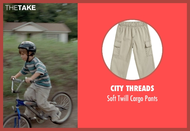City Threads beige pants from Boyhood seen with Ellar Coltrane (Mason)