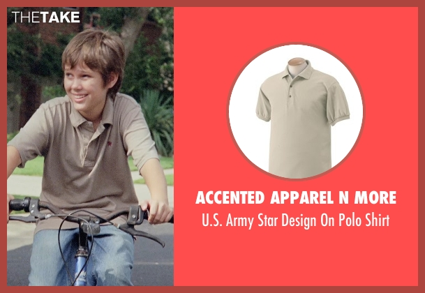 Accented Apparel N More beige shirt from Boyhood seen with Ellar Coltrane (Mason)