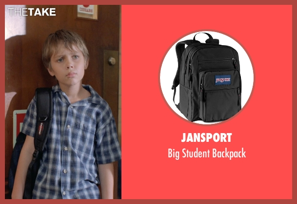 Jansport black backpack from Boyhood seen with Ellar Coltrane (Mason)