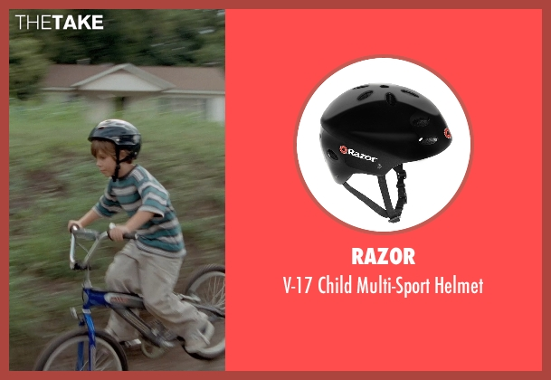 Razor black helmet from Boyhood seen with Ellar Coltrane (Mason)