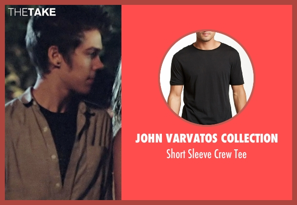 John Varvatos Collection black tee from Boyhood seen with Ellar Coltrane (Mason)