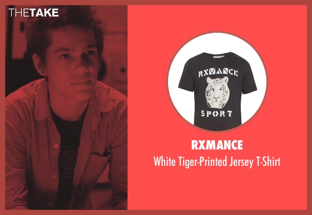 Rxmance black t-shirt from Boyhood seen with Ellar Coltrane (Mason)