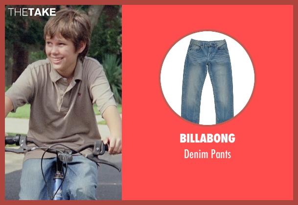 Billabong blue pants from Boyhood seen with Ellar Coltrane (Mason)