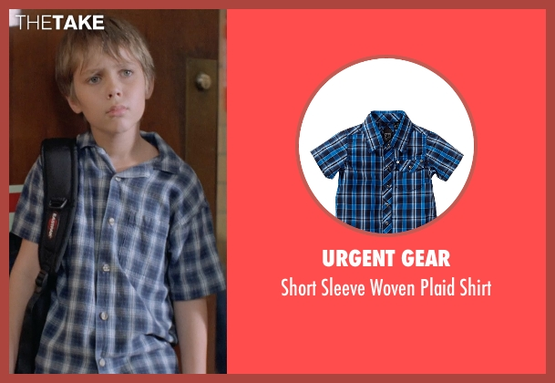 Urgent Gear blue shirt from Boyhood seen with Ellar Coltrane (Mason)